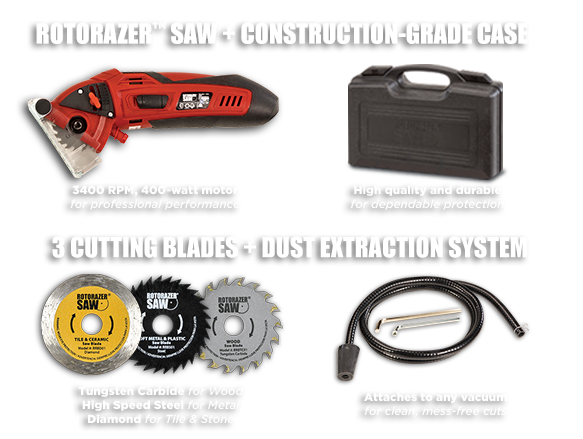 Rotorazor™ Saw + Construction-Grade Case
